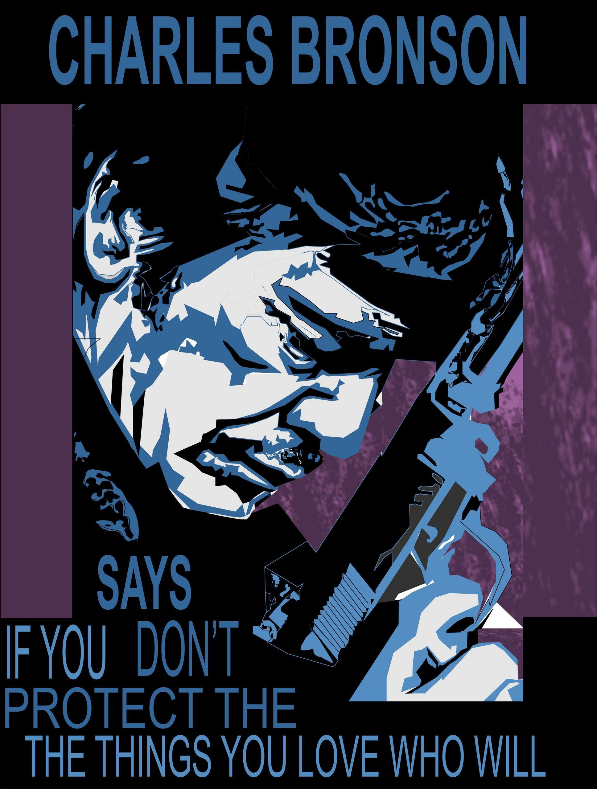 Charles Bronson PSA poster - Movies Fan Art (17483573 ...