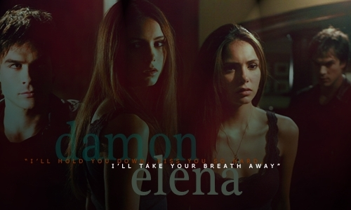 Damon and Elena Wallpaper - damon-salvatore Photo