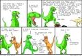 Dinos make jokes