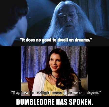 Harry Potter Vs. Twilight wolpeyper possibly with a konsiyerto titled Dumbledore has spoken!