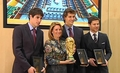 Fernando Llorente, Javi Martinez & Xabi Alonso - honored door the Basque government (1.12.2010)