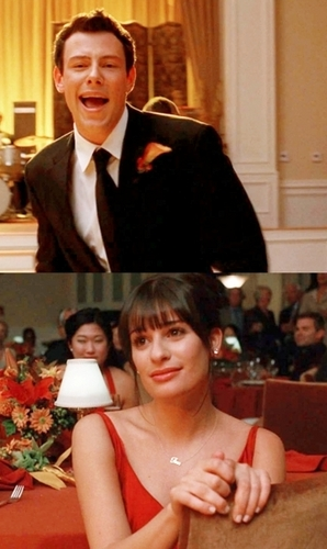 Finn & Rachel wallpaper with a business suit entitled Finchel cuteness right here