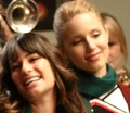 Glee 2x10  - lea-michele-and-dianna-agron photo