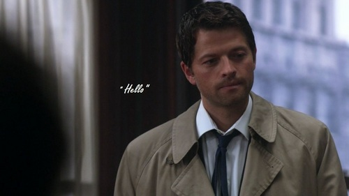Castiel wallpaper with a business suit titled Hello