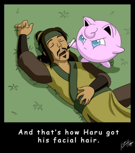 How Haru got his facial hair.:D
