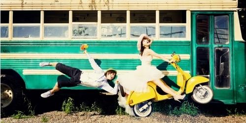 HwangBo & HyunJoong - Wedding picture