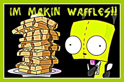 I made wafel for yhu :3