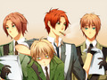 N. Ireland, Scotland, England, and S. Ireland - hetalia photo
