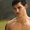 Jacob und Bella Foto with a six pack, a hunk, and skin called Jacob Black and Bella schwan