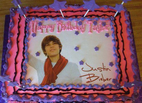 justin bieber cake designs