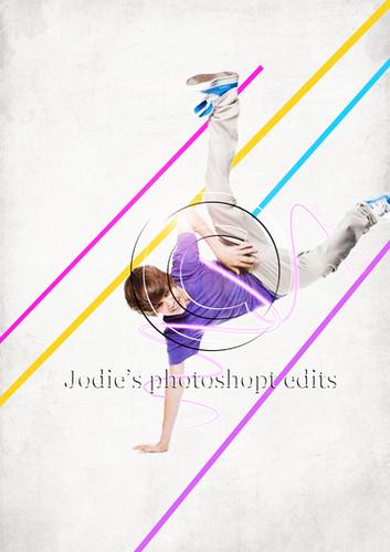 Justin Bieber break dance चित्र संपादन करे