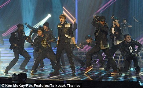 Justin Bieber on the X-Factor in The UK