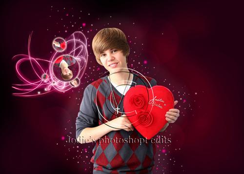 Justin Bieber valentines siku picha hariri
