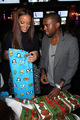 Kanye & Selita @ New Yorkers Wrap to Rap Benefit
