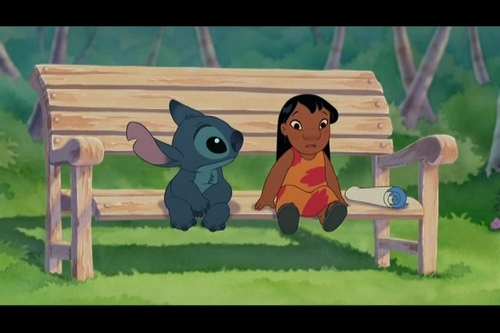Lilo & Stitch wallpaper possibly containing a park bench titled Lilo & Stitch