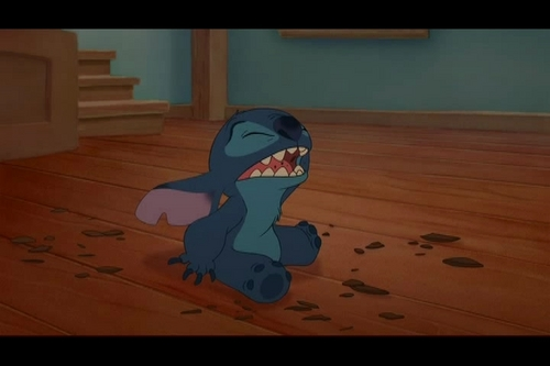 Lilo & Stitch wallpaper probably containing a living room, a family room, and a parquet entitled Lilo & Stitch