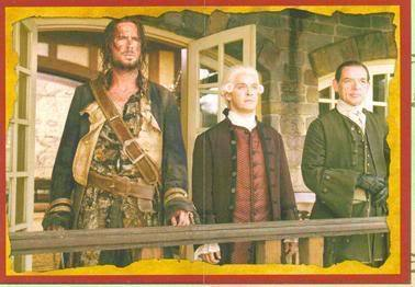 Lord Beckett with James Norrington and Mr. Mercer