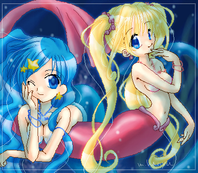 Mermaid Melody – Pichi Pichi Pitch fond d'écran probably containing animé entitled Luchia & Hanon