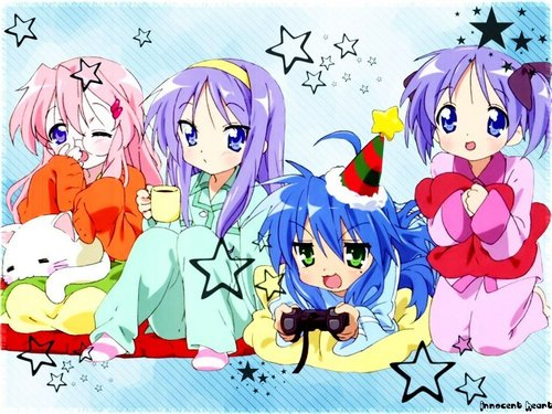 funkyrach01 wallpaper possibly containing anime called Lucky Star