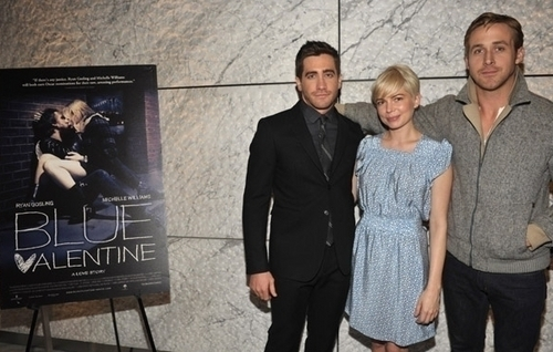 Michelle Williams & Ryan гусенок, гусеничный, гослинг - Blue Valentine Screening hosted by Jake Gyllenhaal