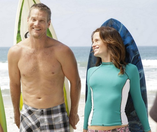 Elizabeth Reaser wallpaper probably containing a hunk and swimming trunks titled New/HQ 'The Ex List' Stills.