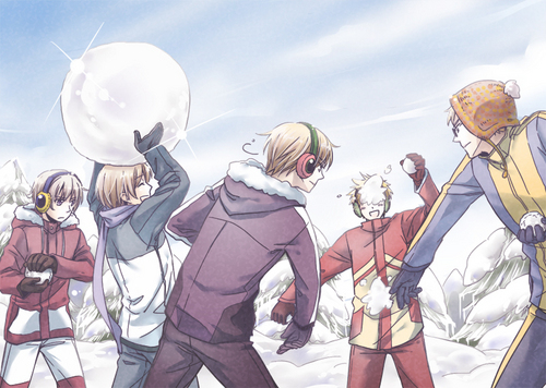 Nordic snow fight