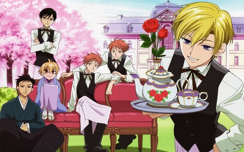 Host Club - le lycée de la séduction fond d'écran probably containing animé entitled Ouran High School host club