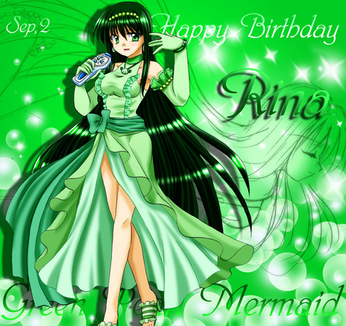 Mermaid Melody Hintergrund possibly with a abendessen dress, a gown, and Anime titled Rina