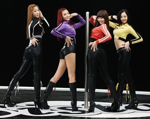 "SISTAR's ""How Dare You"" BTS mga litrato MV shoot"