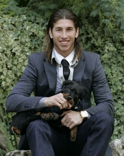 Sergio Ramos with his dog - sergio-ramos Photo