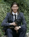 Sergio Ramos with his dog