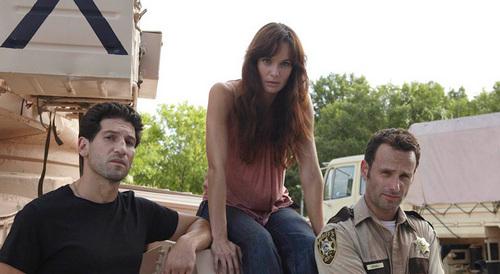 Walking Dead fond d'écran entitled Shane, Lori & Rick
