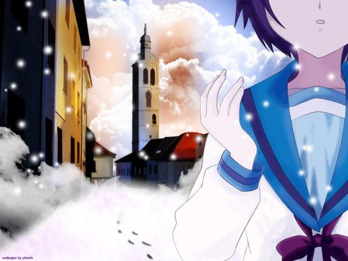 funkyrach01 wallpaper possibly containing a snowbank titled The Melancholy of Haruhi Suzumiya