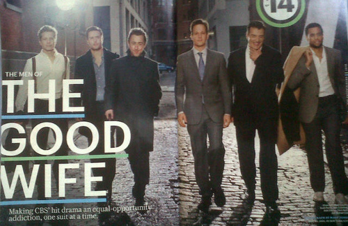 The Good Wife wallpaper with a business suit entitled The Men of 'The Good Wife'
