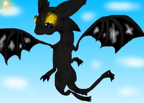 Toothless Flight
