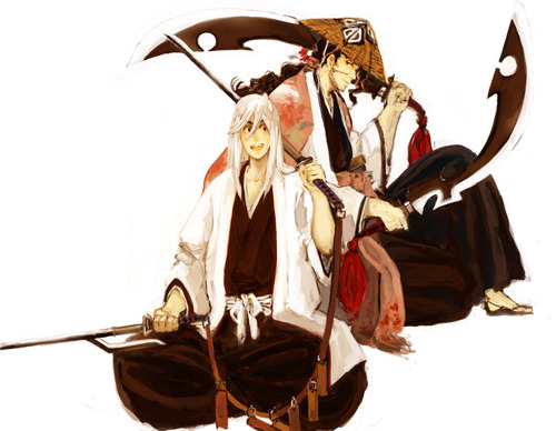 animê bleach wallpaper probably with a surcoat, sobretudo titled Ukitake and Kyoraku