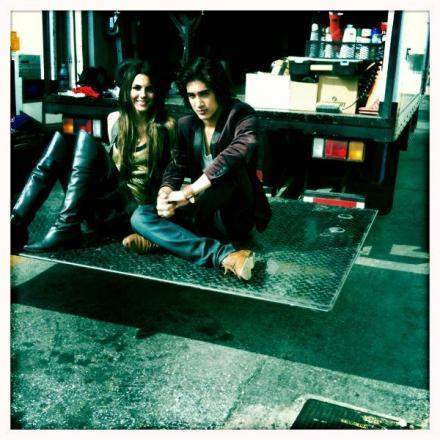 Vic & Avan On Set