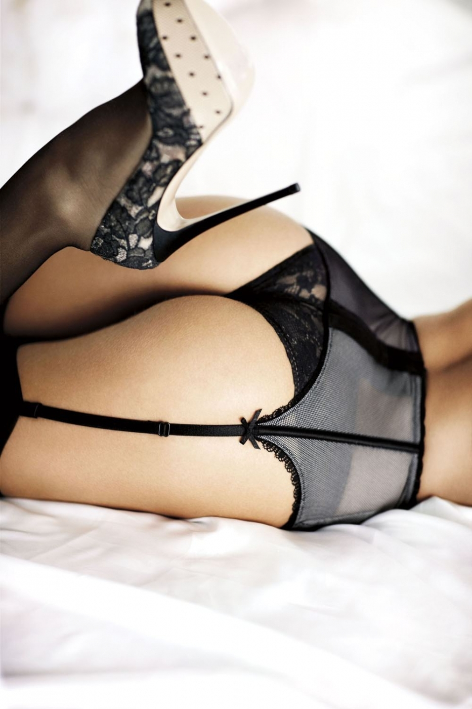 Garter Belt Stockings High Heels