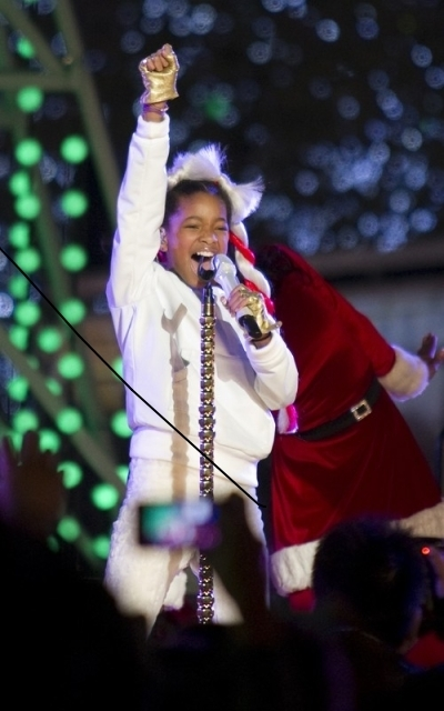 Willow @ The Holiday Tree Lighting & Grand Opening Of The LA Kings Holiday Ice At L.A. LIVE