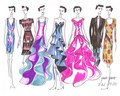 Yuna Yang fashion designs Louise Brooks