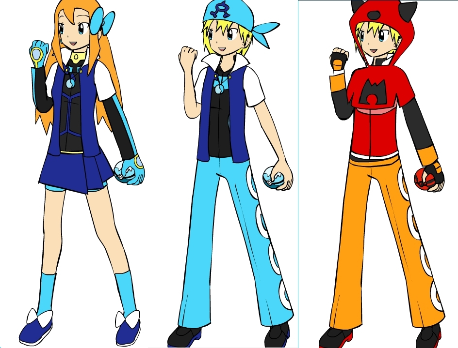all my charictors! (u should b able 2 guess which is which)