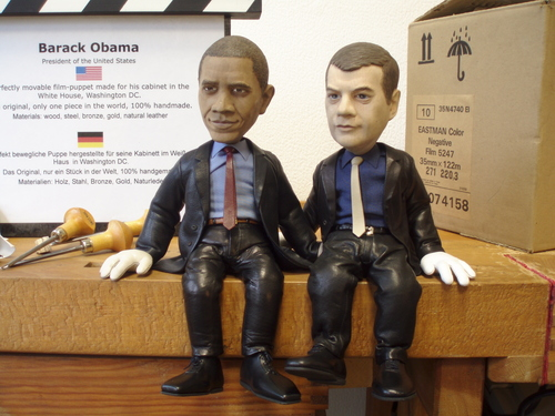 barack and dimitri oroginal puppets