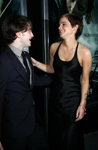 Daniel Radcliffe&Emma Watson wallpaper probably containing a business suit called daniel and emma
