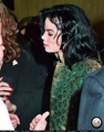 michael attends grammys am records party with brooke sheilds