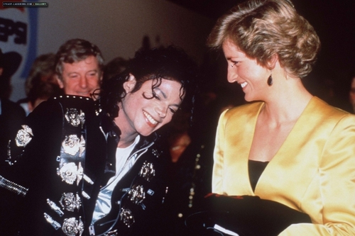 michael meets princess diana  - princess-diana Photo