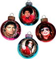 mjs christmas balls - michael-jackson photo