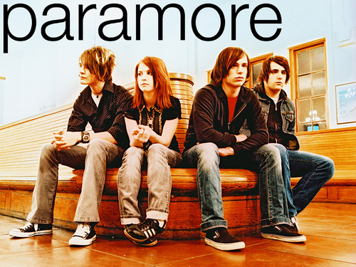 Paramore wallpaper probably containing a business suit, a park bench, and a hip boot titled Paramore