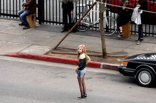 pics of AVRIL HERSELF from WHAT THE HELL music video shoot!! (new new new)