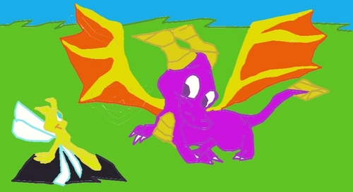 Spyro The Dragon achtergrond probably containing anime titled spyro and sparx