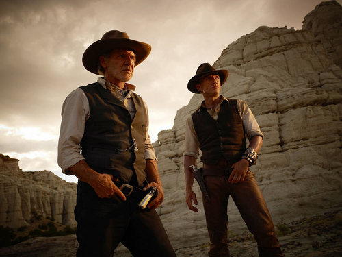 'Cowboys & Aliens' Production Still ~ Jake Lonergan and Col. Woodrow Dolarhyde